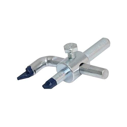 DEWEPRO® Fliesenlochschneider - einstellbar 30-90mm - zum Ausschneiden von Löchern in Glasur bis zur 4. Abriebklasse - Fliesenlochbohrer Fliesenbohrer