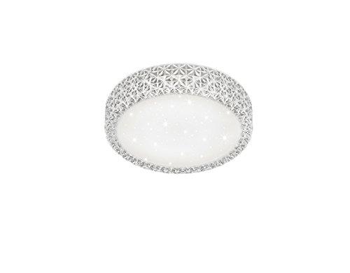 Reality Pegasus Plafoniera LED, Effetto Cielo Stellato, Diametro 28 cm 10 W, Bianco