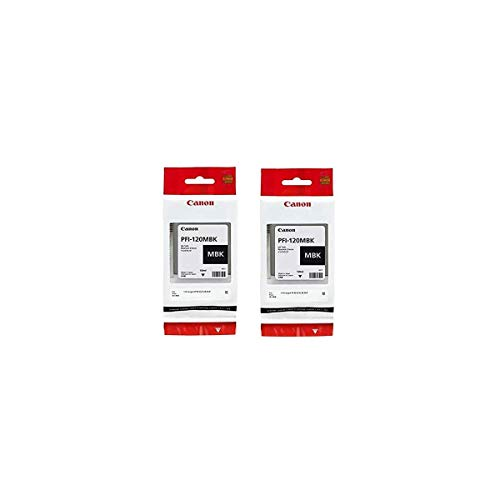 Price comparison product image Canon PFI-120 Pigment Ink Tank (Matte Black,  2-Pack) in Retail Packaging