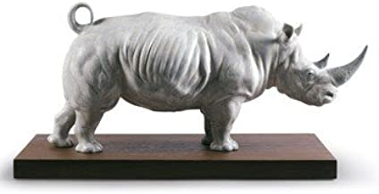 Lladro Animal Figurines In the Wild 9285 WHITE RHINO 01009285 - Widenshop - Best Gift for Birthdays, Holidays and other Occasion - Collectibles Home Treasures Indoor decorations - New Issue 2017