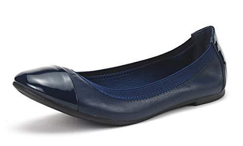 DREAM PAIRS Women's Sole-Flex Navy Ballerina Walking Flats Shoes - 6.5 M US