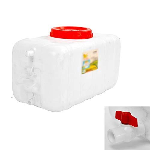 JB-Shuixiang Depósito De Agua con Grifo, Contenedor De Almacenamiento De Agua De Plástico Blanco Grueso, Cubeta De Almacenamiento Portátil Portátil For Exteriores, Rectangular (Size : 50l)