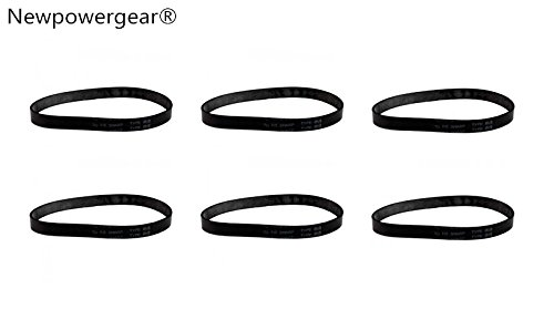 Best Deals! NewPowerGear 6 Energy Upright Vacuum Belts for Sharp EC-12STXT4, EC-12SX2, EC-12SX3, EC-...