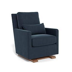 Monte Design Upholstered Modern Nursery Como Glider Chair, Midnight Blue