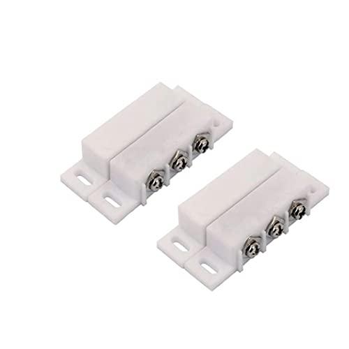 Interruptor de Lengüeta alarma normalmente abierto cerrado NC NA ventana de la puerta de seguridad de contacto kit de sensores de 5V DC 12V 24V 2 piezas