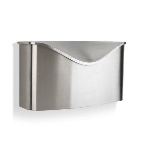 Umbra 460322-592 Postino Wall-Mount Mailbox, Stainless Steel