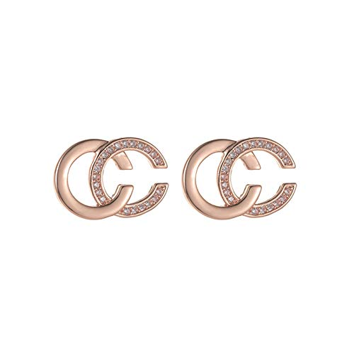 QY-Youth Letter Earrings For Woman Fashion Smooth Metal C Shaped Earrings Unusual Korean Girl's jewelry