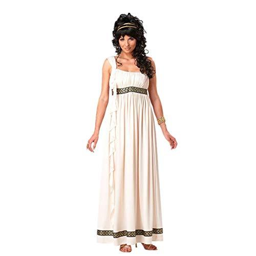 Lhlxs Frauen Athena-Kostüm-Erwachsene griechische Göttin Cosplay römische Prinzessin Kostüme arabischer Prinz Caesar Abendkleid,XL
