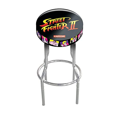 ARCADE1UP Legacy Stool Adjustable Height 21.5 inches to 29.5 inches (Street Fighter II Capcom)