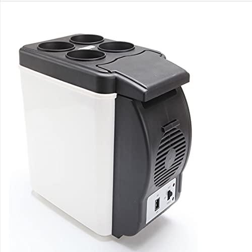 JUBANGLIAN Ac/DC Mini nevera portátil, 6 l de gran capacidad compacto coche refrigerador para coches, hogares, oficinas, dormitorios y dormitorios