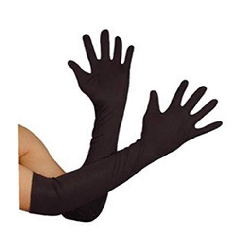 Direkt Frank 'n' Furter Elbow-länge Handschuhe, Schwarz, Kostüm Zubehör