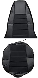 TC Seat Cover Black/Black Extra Foam for Cushion fits Peterbilt Kenworth Freightliner Western Star Volvo Internacional (Set is for 1 Seat)