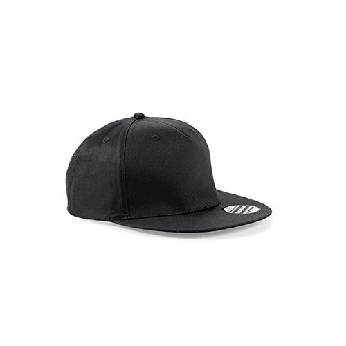 Beechfield Casquette Unisexe avec Panneau Snapback Rapper Taille Unique Noir