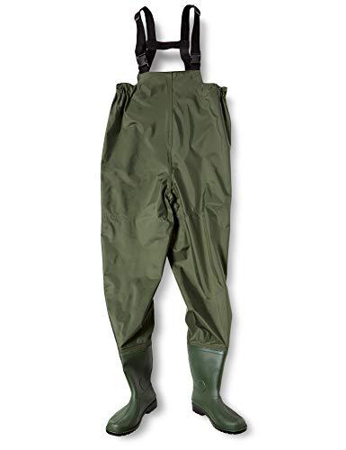 [富士手袋工業] ウェーダー 胴付水中長靴 ナイロン ラジアルソール 2076 Moss green LL(26.5~27.0cm)
