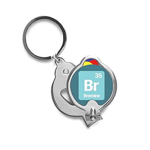 BR - bromo - elemento químico ciencia Cortaúñas afiladas cortaúñas de acero inoxidable