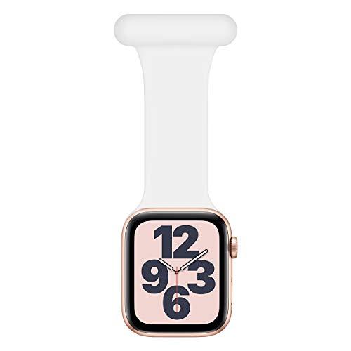 Wepro Compatible con Correa Apple Watch Fob 40mm 38mm, diseño de Control de infecciones Fob de Silicona para Enfermeras parteras médicos paramédicos para iWatch Series SE/6/5/4/3/2/1, Blanco