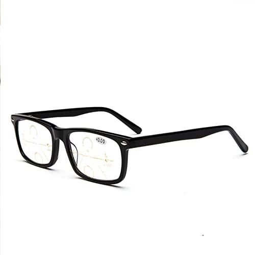 ZQKJLH Scolorimento Progressive Smart Lenti di Lettura multifocali, Protezione dalle Radiazioni/Protezione dai Raggi UV, Cambio Colore Esterno, per Uomo/Donna- Occhiali da Sole (Size : +2.5)
