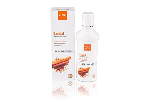 VLCC Natural Sciences Sandal Cleansing Milk Skin Defence Normal to Dry Skin Deep Cleanses and Soothes Skin 100ml