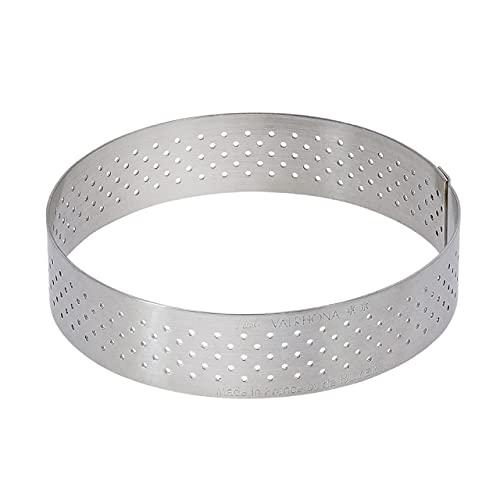 De Buyer 3099.03 - Tagliapasta perforato con bordo dritto, in acciaio INOX, rotondo