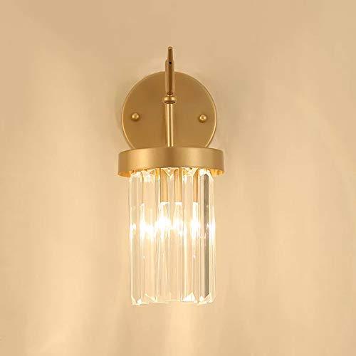 LaLa POP Dormitorio Americano Lámpara De Cristal Lámpara De Pared Espejo Faro Lámpara De Salón Pasillo Lámpara De Pared Lámpara De Noche