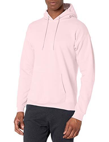Hanes Men's Pullover EcoSmart Hooded Sweatshirt, pale pink, X Large