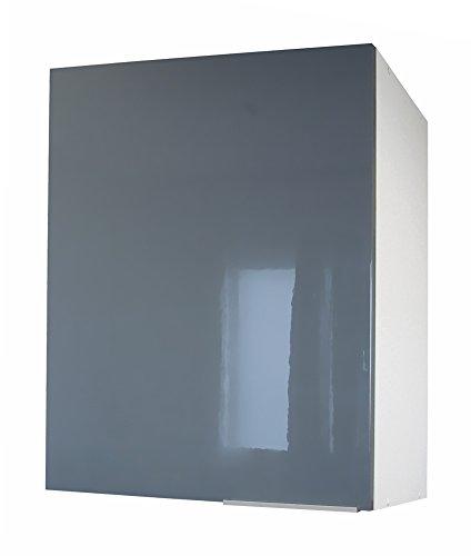 Berlenus CP6HA Küchenschrank, 1 Tür, 60 cm, glänzend, Grau