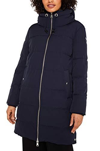 ESPRIT Damen 119EE1G014 Mantel, Blau (Navy 400), Medium (Herstellergröße: M)