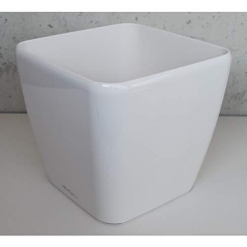 Vaso in Resina per Piante Lechuza Quadro Premium 50 Solo Vaso IN - BIANCO LUCIDO