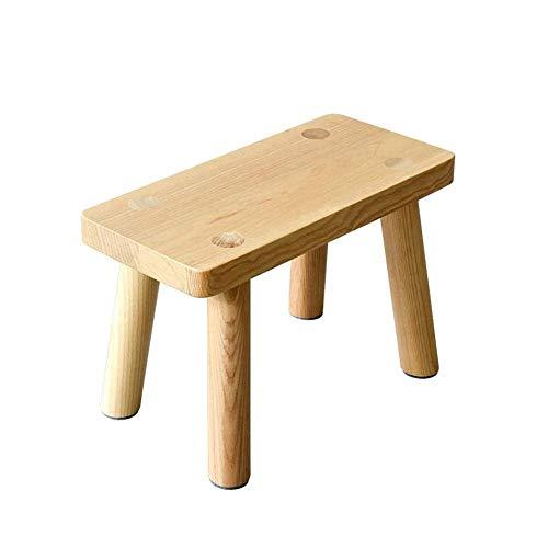 ZCXBHD voetenbank kleine kruk massief hout salontafel kleine kruk bank veranderen huis schoenen houten kruk (kleur: natuurlijk)