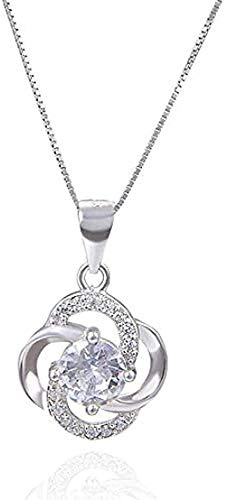 FACAIBA Necklace Woman Man Necklaces S925 Silver Diamond Zircon Personality Clavicle Necklace Chain Pendant Women Fashion Accessories Gifts