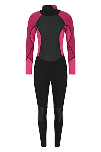 Mountain Warehouse Neopreno para Mujer - Cuerpo: 2.5mm, De una Sola Pieza, Cuello Ajustable y Cremallera de Cierre fácil, Mantiene el Calor - para Hacer Surf y Kayak Rosa Oscuro 36-38