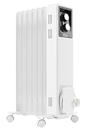 Dimplex 1.5kW Oil filled radiator with variable thermostat and 3 heat settings, X-078056