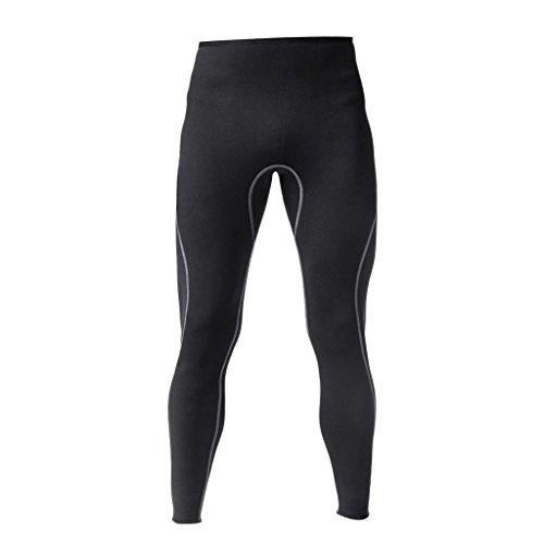 Gazechimp Pantalons De Plongee Homme sous Marine Néoprène 3mm Collant Plongée pour Sport Nautique - Noir, M