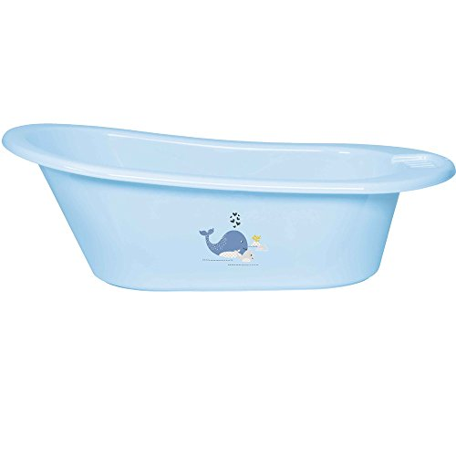 bébé-jou 6256102 Baby Badewanne Click Wally Whale, blau