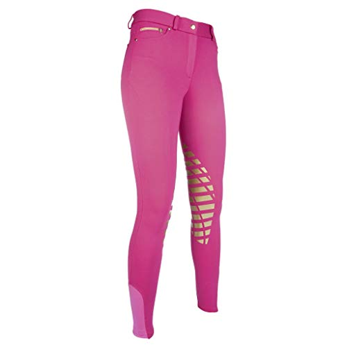 HKM Damen Reithose-Soft-Silikon-Kniebesatz3900 Trainingshose, pink, 38