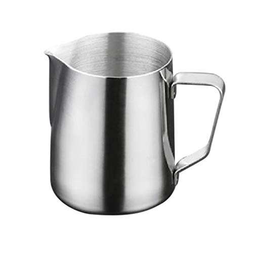 OUNONA 1000ml Stainless Steel Frothing Pitcher Milk Frothing Jug Latte Pourer Cappuccino Coffee Jug (Silver)