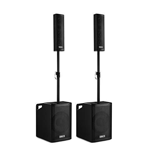 Vonyx VX1050BT Aktiv Lautsprecher Kit 2.2 1150W BT Trolley Schutzcover