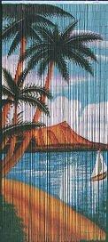 ABeadedCurtain 125 String Waikiki Beaded Curtain Handmade with 4000 Beads (+Hanging Hardware) 38% More Strands and Beads