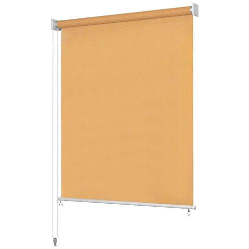 Nishore Toldo Vertical Estor Opaco para Ventana para balcón, Patio, Porche o pérgola Beige 100 x 230 cm