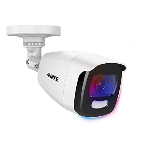 ANNKE NCA500 5MP Add-On Security Bullet Camera with Full Color Night Vision, CCTV Surveillance Camera with 130 dB WDR & 3D DNR, IP67, 0.0005 Lux(Cable & Adapter Included)