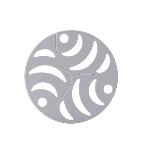 Yiiuii 5pcs Conjunto de esteras de trivels de Silicona Redondo, Placas Placas de Olla Pantalla Hot Pad Use para Uso múltiple y Muchos Colores,C