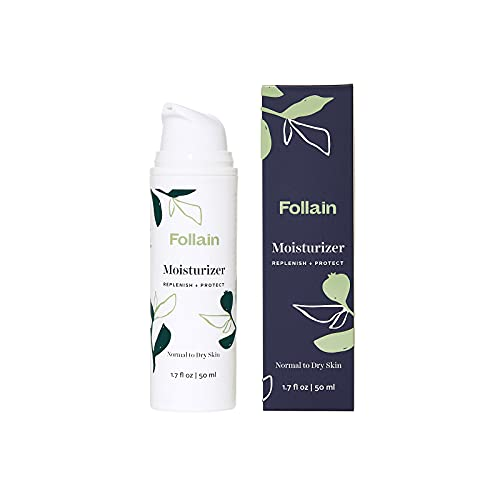 Follain Moisturizer: Replenish + Protect   Improves Look of Fine Lines and Wrinkles, Hydrating, Lightweight Daily Facial Lotion for Normal to Dry Skin with Peptide Complex, Cruelty Free, 1.7 fl oz