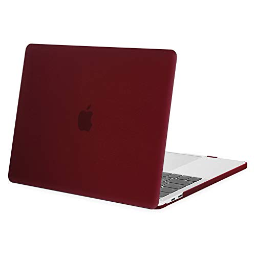 MOSISO MacBook Pro 13 inch Case 2020 2019 2018 2017 2016 Release A2289 A2251 A2159 A1989 A1706 A1708, Plastic Hard Shell Case Compatible with MacBook Pro 13 inch with/Without Touch Bar, Marsala Red