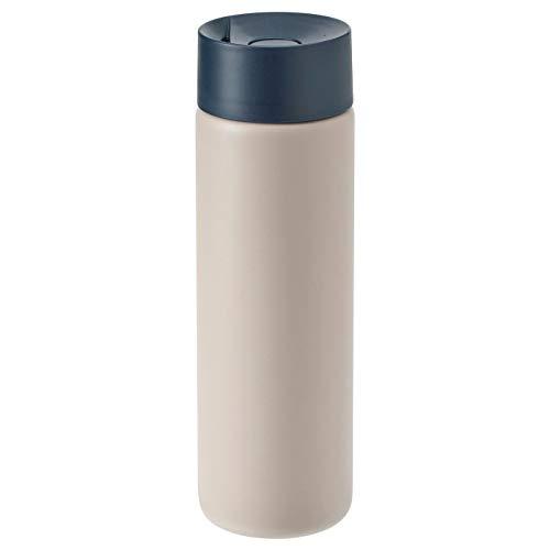 Thermobecher Reisebecher, beige, rutschfeste Oberfläche, Produktgröße: Höhe: 21 cm, Volumen: 0,4 l