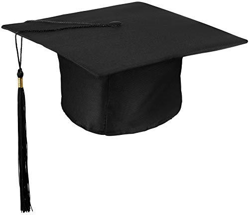 Bachelor Mütze | College | Master | Uni | FH | Graduation | Studentenhut | Doktorhut für Abschlussfeiern vom Studium Universität Hochschule Abitur Absolventenhut in schwarz - Größe verstellbar