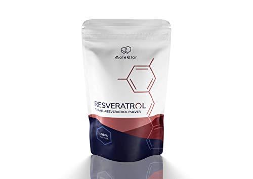 Resveratrol | 30 Gramm | Trans-Resveratrol Pulver Reinheit >98{4cf5dd4f9f43a2b5d6878341a0e7e19676f99aa0f8ff46b066dee26a0bbe98fd} | ohne Zusätze | aus dem japanischen Staudenknöterich | von MoleQlar