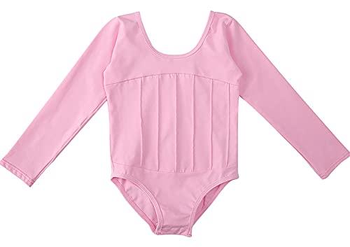 ZRFNFMA Kinder Tanzkleidung Kinder Ballettkleidung Herbst und Winter Langarm Mädchen Kinder Tanzkleidung rosa-150cm