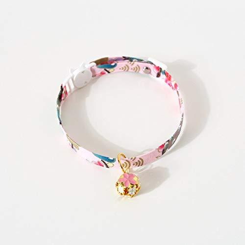 Collar para mascotas estilo japonés ajustable para mascotas con flores huecas para gatos y perros, accesorios de correa de conejo (color G