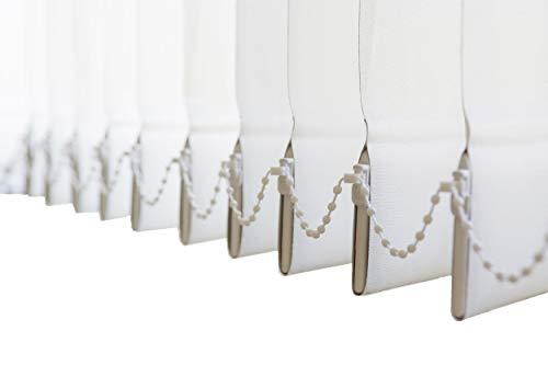 Lamellenvorhang, Vertikal, in 4 Farben, Lamellen 127 mm, Schiebevorhang, Jalousie, Vertikaljalousie, NEU (Weiss, 150 x 250 cm BxH)