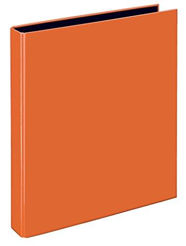 Veloflex 1143330 Ringbuch VELOCOLOR, Ringordner, Ordner, DIN A4, 255x318x45, 4-Ring-Mechanik, Karton, orange